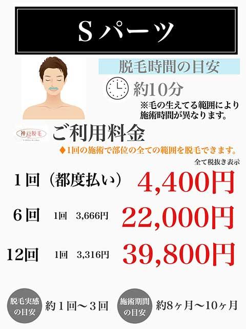 メンズSパーツ鼻の下料金